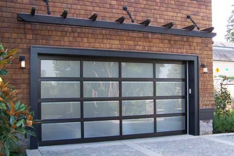 clear glass door aluminum products full doors lux garage tempered contemporary anodized view