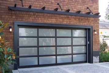 Beautiful glass garage door
