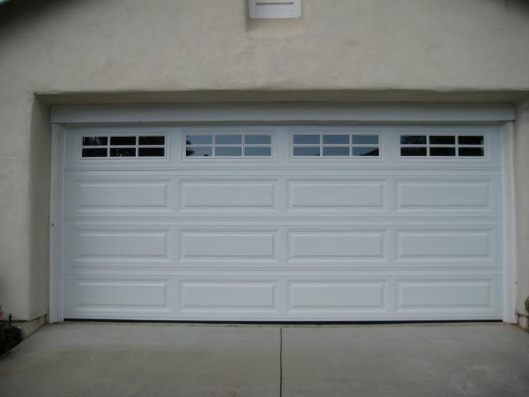 Long Panel Garage Door With Windows