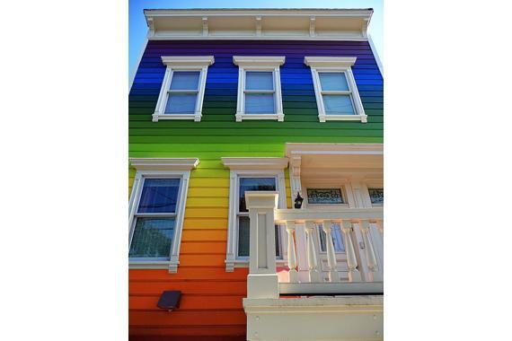 amazing rainbow exterior design