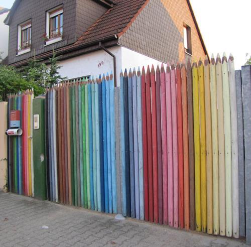 Colored pencil gates