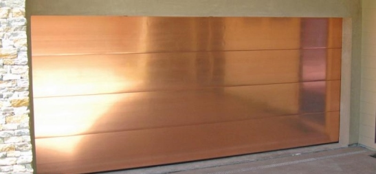 copper garage door