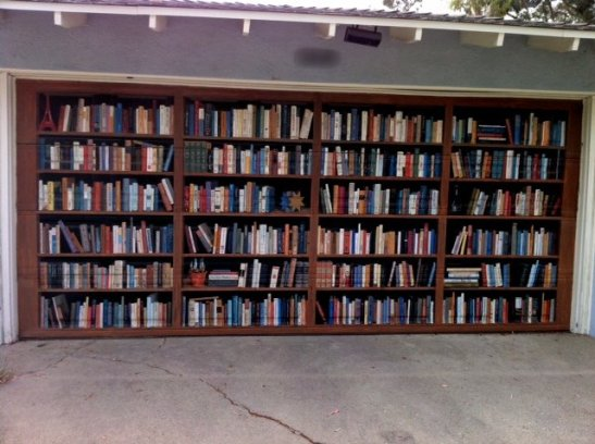 Garage door idea - book shelves