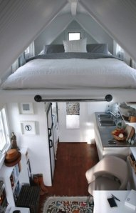 Sky-high bed for small apt.
