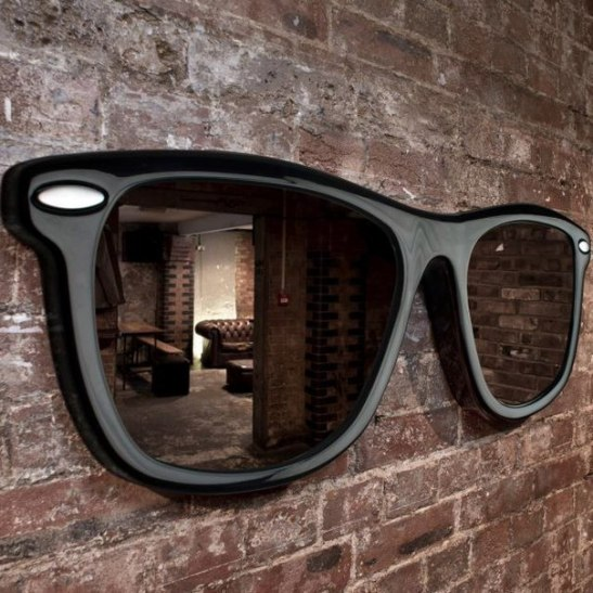 Sunglasses shaped mirror