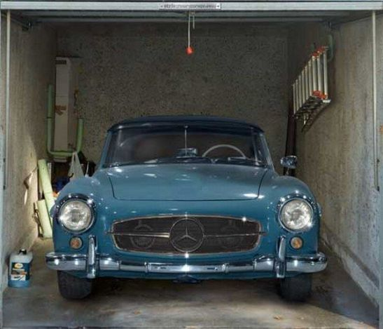 Vintage  car garage door sticker!