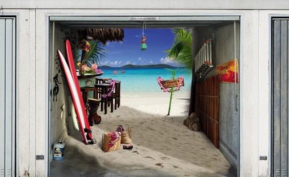 Wonderful garage door art