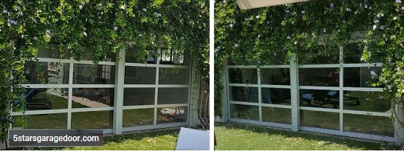 garage door glass
